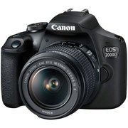 "Зеркальный фотоаппарат Canon EOS 2000D черный 24.1Mpix 18-55mm f/3.5-5.6 III 3"" 1080p Full HD SDXC Li-ion (с объективом)"