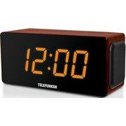 Радиоприемник настольный Telefunken TF-1566 дерево коричневое/оранжевый USB SD/MMC