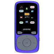 """Плеер Hi-Fi Flash Digma B4 8Gb синий/1.8""""/FM/microSDHC"""