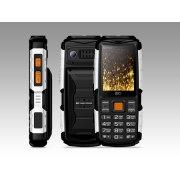 Мобильный телефон BQ BQM-2430 Tank Power черный/серебро
