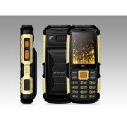 Мобильный телефон BQ BQM-2430 Tank Power черный/золотой