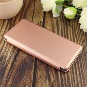 Чехол-книга для Samsung A71 (2020)/отдел под пластик.карту,силикон/ розовое золото
