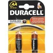 Батарейка Duracell LR06, AA, Basic, щелочная (CN LR6-2BL) блистер 2 шт
