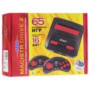 Игровая консоль Magistr Drive 2 Little черный в комплекте 65 игр
