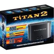 Игровая консоль Titan Magistr Titan 2 черный +контроллер в комплекте 400 игр