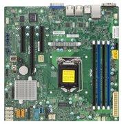 Материнская плата Supermicro MBD-X11SSL-F-O Single SKT, Intel C232 PCH chipset, 6 x SATA3, 2 x GbE LAN, 2 x SATA-DOM, dedicated IPMI, mATX
