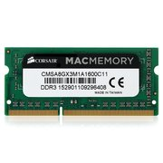 ОЗУ Corsair Mac Memory CMSA8GX3M1A1600C11 SO-DIMM 8GB DDR3-1600 PC3-12800, CL11 (11-11-11-30), LV 1.35V, retail