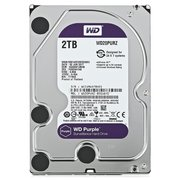 "HDD Western Digital WD Purple (WD20PURZ) 3.5"" 2.0TB IntelliPower Sata3 64MB 24/7, для систем наблюдения (до 64 камер), AllFrame уменьшает потери кадров"
