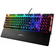Клавиатура Steelseries Apex 7 Red Switch механическая черный USB Multimedia for gamer LED (подставка для запястий)