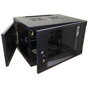 Шкаф коммутационный Lanmaster Next TWT-CBWNG-12U-6X6-BK черный 12U 550x600мм пер.дв.стекл 60кг