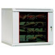 Шкаф коммутационный ЦМО ШРН-9.480 серый 9U 600x480мм пер.дв.стекл несъемн.бок.пан. 50кг