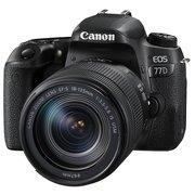 """Зеркальный фотоаппарат Canon EOS 77D черный 24.2Mpix EF-S 18-135mm f/3.5-5.6 IS USM 3"""" 1080p Full HD SDXC Li-ion"""