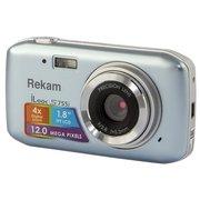 "Фотоаппарат Rekam iLook S755i серый металлик 12Mpix 1.8"" SD/MMC CMOS/Li-Ion"