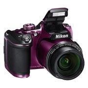 "Фотоаппарат Nikon CoolPix B500 фиолетовый 16Mpix Zoom40x 3"" 1080p SDXC/SD/SDHC"