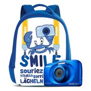 """Фотоаппарат Nikon CoolPix W150 синий 13.2Mpix Zoom3x 2.7"""" 1080p 21Mb SDXC"""