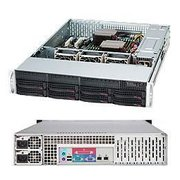 "Корпус Supermicro SuperChassis (CSE-825TQ-R740LPB) 2U Rack-Mountable, 8x3.5"" HS HDD bays, 2x3.5"" fixed HDD bays, opt. Slim ODD, Extended ATX"
