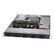 "Корпус Supermicro (CSE-116AC2-R706WB2) 1U Rackmount support for motherboard size: 12"" x 13"", 13.38"" x 13.4""; 10 x 2.5"" hot-swap SAS/SATA"