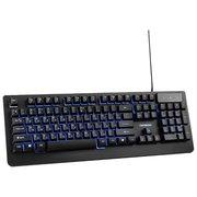 """Клавиатура игровая Гарнизон GK-310G, металл, синяя подсветка, код """"Survarium"""", USB, Black"""