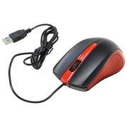 Мышь Oklick 225M Black/Red, 1200dpi, 2кн, USB