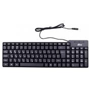 Клавиатура Ritmix RKB-100 Black, Classic, USB, 102 кн., регулировка угла наклона, кабель: 1,3 м
