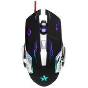 """Мышь игровая Гарнизон GM-710G, """"Альфард"""", Black, USB, софт тач, 2400 dpi, 5кн.+колесо-кнопка"""