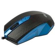 Мышь Ritmix ROM-202 Black&Blue, USB, 2 + колесо-кнопка, 1000 dpi, USB, оптическая, кабель: 1,2 м