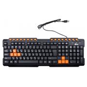Клавиатура Ritmix RKB-151 Black, Multimedia, USB, 107+16кн., регулировка угла наклона, кабель: 1,3 м