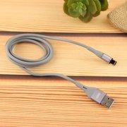 Дата-кабель MRM 360 магнитный силиконовый Lightning 1м (серый)