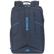 """Рюкзак для ноутбука 17.3"""" Riva 7861 темно-синий полиэстер"""