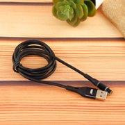 Дата-кабель MRM 360 магнитный силиконовый Lightning 1м (чёрный)