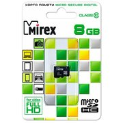 Карта памяти Mirex microSD 8GB Class10 (13612-MC10SD08)
