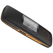 "Плеер Flash Digma U3 4Gb черный/оранжевый/1.1""/FM/microSDHC"