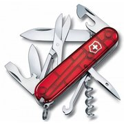 Нож перочинный Victorinox Climber (1.3703.T) 91мм 14функций красный полупрозрачный карт.коробка