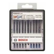 Набор пилок универсальные Bosch Robust Line 10пред. (лобзики)