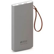 Аккумулятор внешний Hiper Travel10K Li-Pol 10000mAh 2.4A+2.4A серый 2xUSB