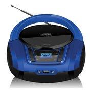 Аудиомагнитола Hyundai H-PCD340 черный/синий