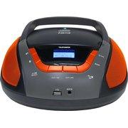 Аудиомагнитола Telefunken TF-CSRP3496B черный/оранжевый
