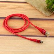Дата-кабель MRM 360 магнитный силиконовый Lightning 1м (красный)