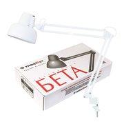 Светильник Трансвит Beta (Beta/Wh) настольный на струбцине E27 белый 60Вт