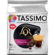 Кофе капсульный Tassimo LOR ESPRESSO Cafe Long Aromatique упаковка:16капс. 110.4г (8050220) Tassimo