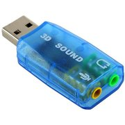 Звуковая карта Atcom 3D sound (USB, 2.0Ch, 5.1Ch (virtual), Windows 7 ready, блистер)