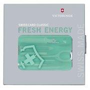 Швейцарская карта Victorinox SwissCard Classic Fresh Energy (0.7145.T) бирюзовый полупрозрачный