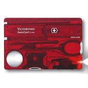 Швейцарская карта Victorinox SwissCard Lite (0.7300.T) красный полупрозрачный