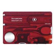 Швейцарская карта Victorinox SwissCard Lite (0.7300.TB1) красный полупрозрачный