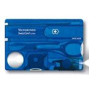Швейцарская карта Victorinox SwissCard Lite (0.7322.T2) синий полупрозрачный