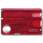 Швейцарская карта Victorinox SwissCard Nailcare (0.7240.T) красный полупрозрачный