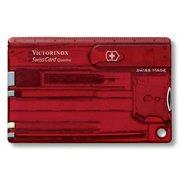 Швейцарская карта Victorinox SwissCard Quattro (0.7200.T) красный полупрозрачный