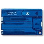 Швейцарская карта Victorinox SwissCard Quattro (0.7222.T2) синий полупрозрачный