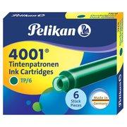 Картридж Pelikan INK 4001 TP/6 (PL300087) Dark-Green чернила для ручек перьевых (6шт)