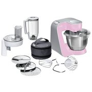 Кухонный комбайн Bosch MUM58K20 розовый/серебристый